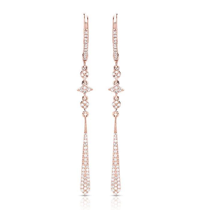 14kt gold Couture Earrings  1/2 ct tw